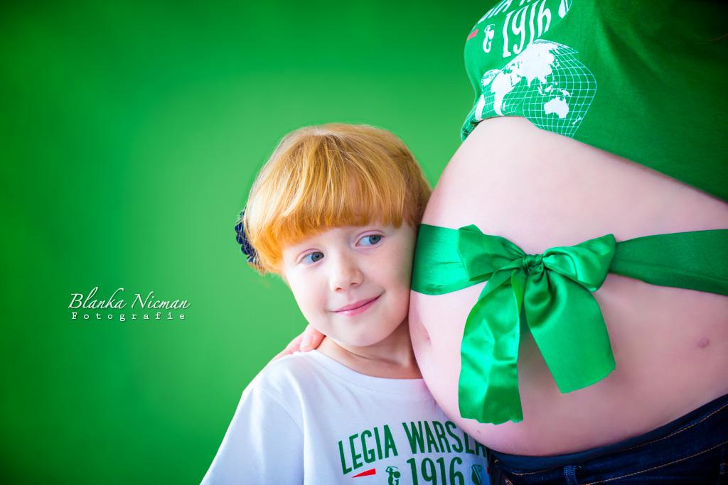 Zdjęcia brzuszkowe z siostrą